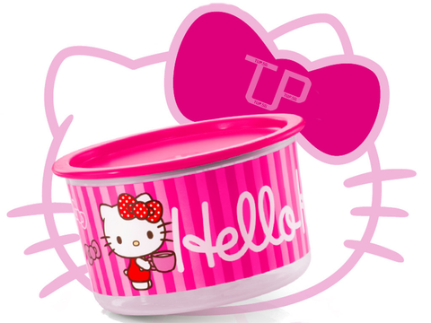 Tupperware Hello Kitty One Touch Topper Small 950ml