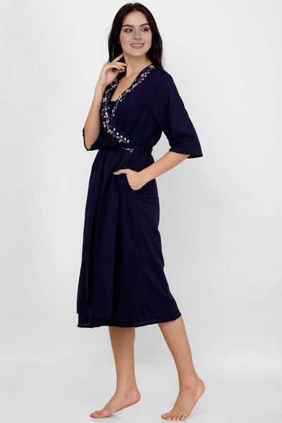 Naima, Embroidered Nightdress & Gown