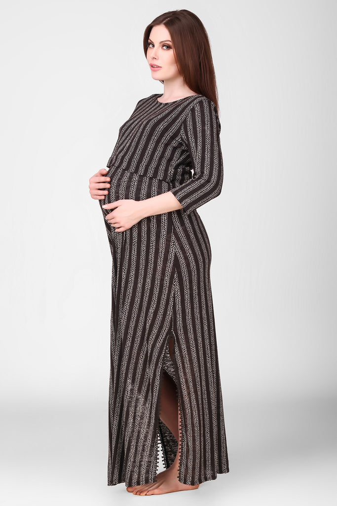 Seraphina, Maternity Night/Lounge Dress - After Dark by Craftline