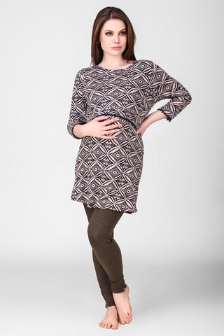 Seraphina, Maternity Tunic/Top - After Dark by Craftline