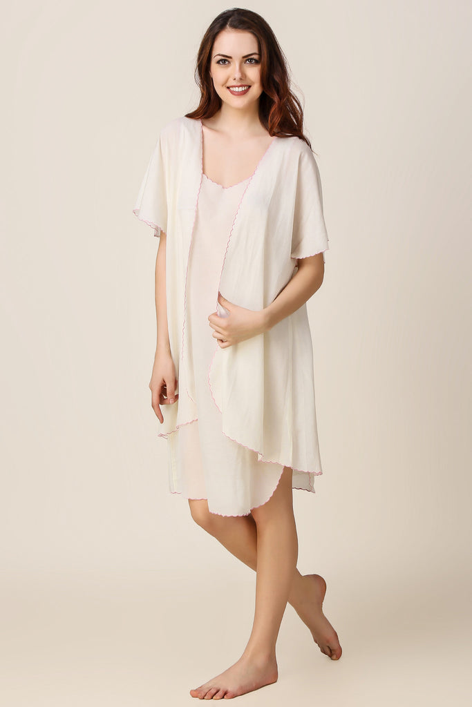 Scallop, Nightdress and Gown