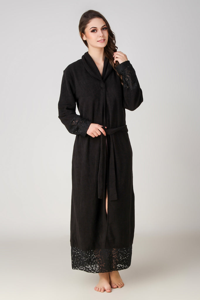 Yulia, Wintry Fleece Gown - After Dark by Craftline