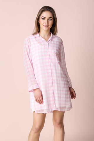 Bella, Sleep Shirt with Slip - After Dark by Craftline