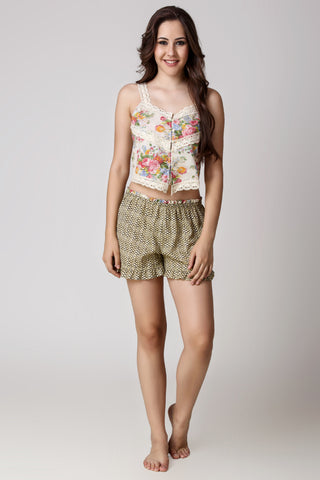 Holly, Crop Top & Shorts - After Dark by Craftline