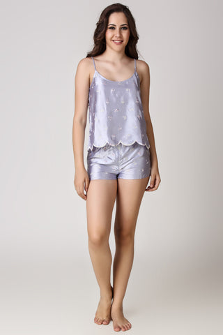 Chloe, Embroidered Shorts & Top - After Dark by Craftline