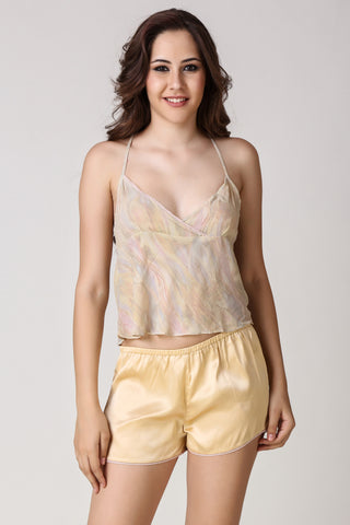 Iris, Sheer Top & Shorts - After Dark by Craftline