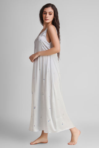 Angel, Embroidered Long Dress