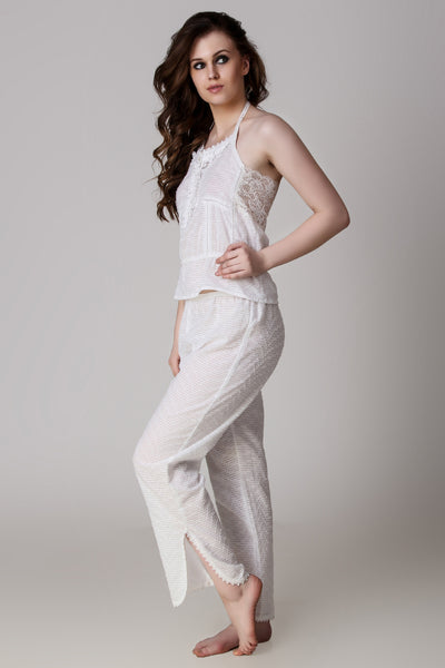 Hana, Net-Back Pyjama Suit - After Dark by Craftline