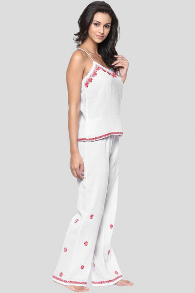 Misha, Lucknow Embroidery Pyjama Set - After Dark by Craftline