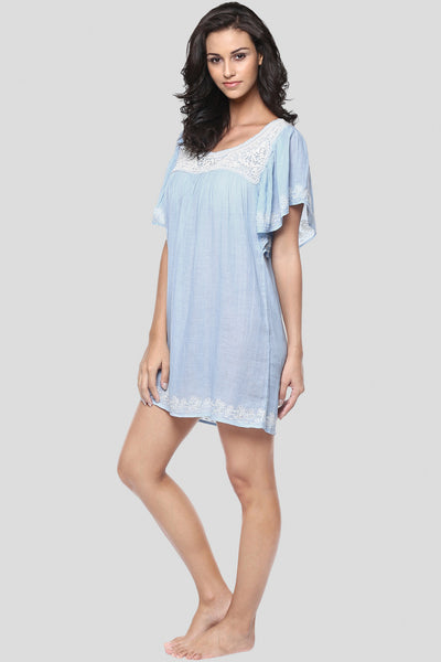 Daya, Sheer & Embroidered Night Dress