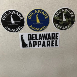 4 Delaware Apparel Sticker Variety Pack (Best Value)