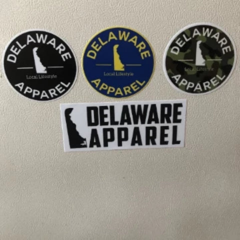 4 Delaware Apparel Sticker Variety Pack