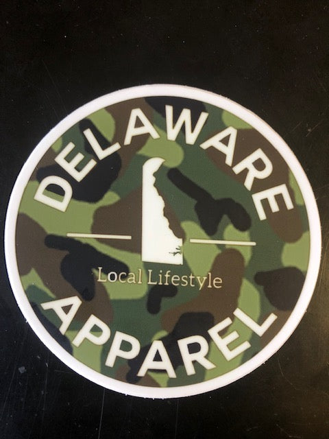 "Delaware Apparel Logo/Sticker (4""x4"" Circle)"