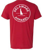 Red Delaware Apparel Tri-Blend T-Shirt