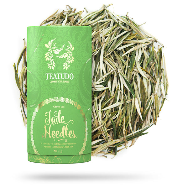 Jade Needles - Green Tea | Tube - Teatudo Premium Teas