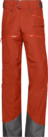 Lofoten Gore-tex insulated broek heren oranje bruin