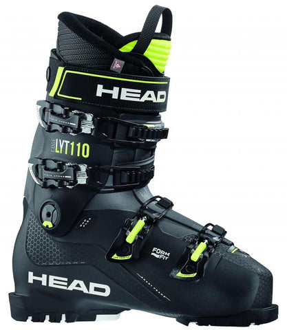 Head Advant Edge Lyt 110 heren skischoen zwart/geel
