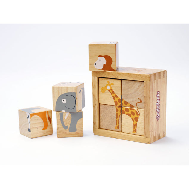 Blocs en bois Safari Animals- BeginAgain