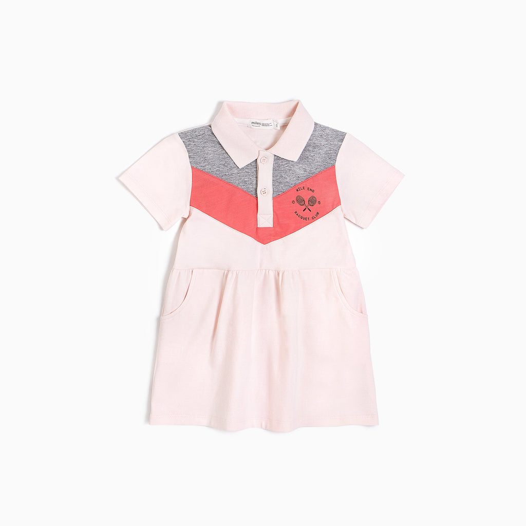 Robe polo rose pâle - Miles Baby