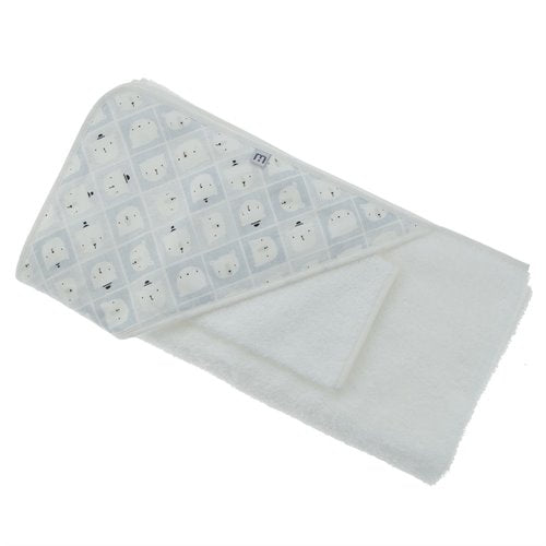 Serviettes de bain en ratine blanche - MH collections