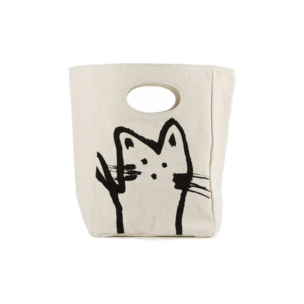 Sac à lunch CLASSIC HEY CAT- Fluf textile
