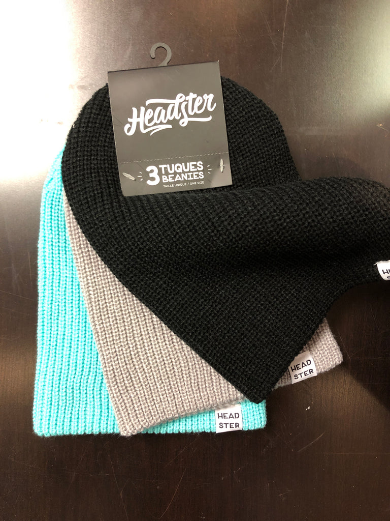 Lot de 3 tuques Beanies - Headster