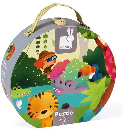 36 pcs - Casse-tête panoramique - Jungle- Janod