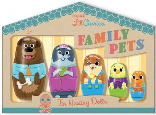 Schylling Lil' Classics FAMILY PETS