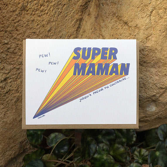 Super maman -Carte Illustrations Darveelicious