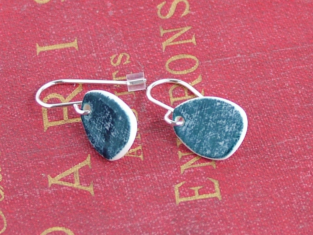 Indigo Porcelain Earrings