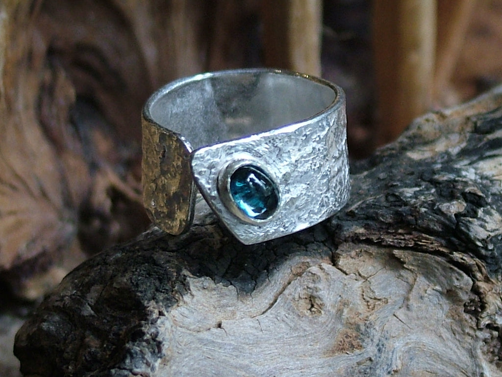 Wide Wrap Ring with London Blue Topaz