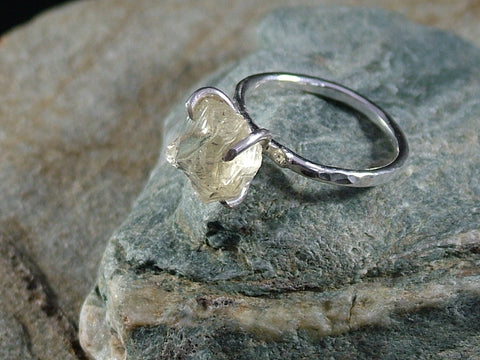 Raw Citrine Rock Ring