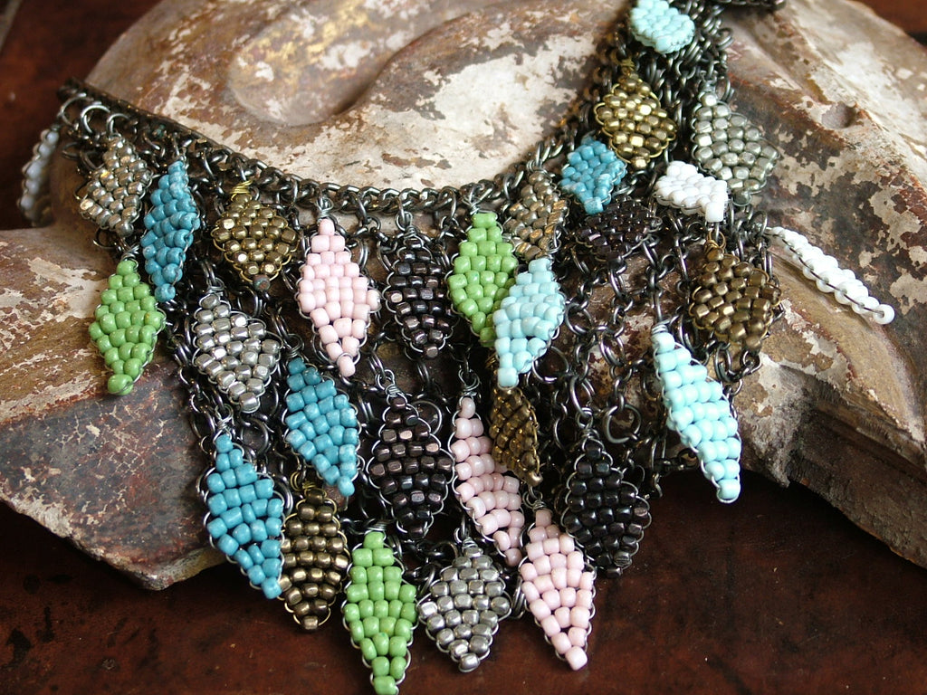 Vintage and Preloved Beaded Bib Necklace