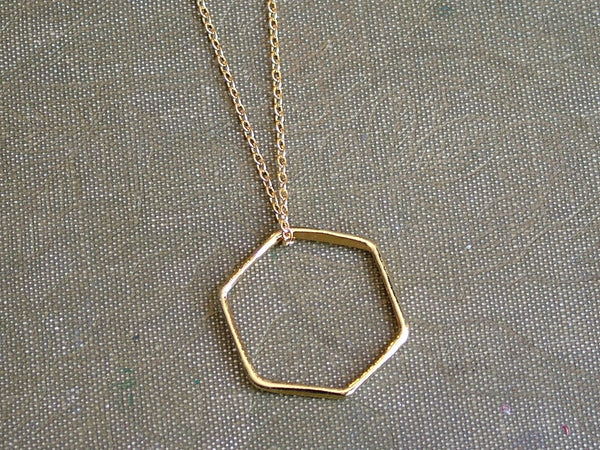 Large Hexagon Pendant