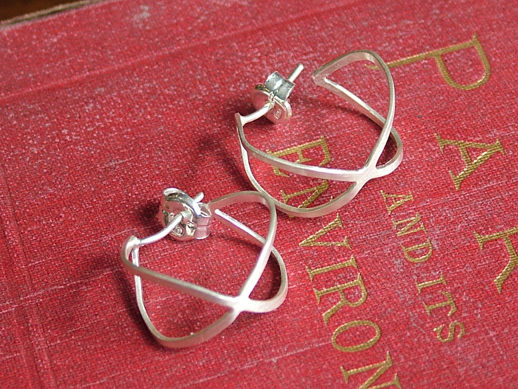 Mini Creole Earrings Silver