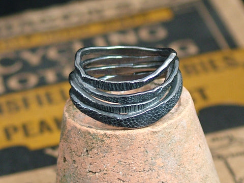 Oxidised Coil Ring