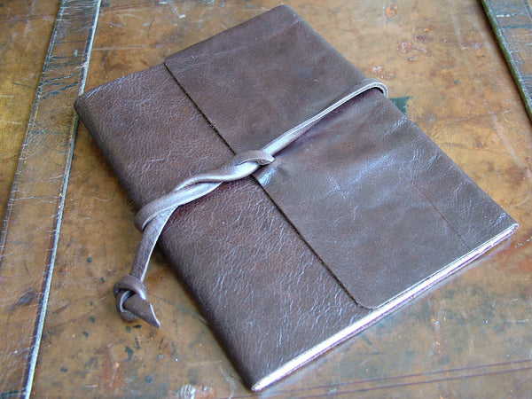 Large Wraparound Leather Bound Notebook