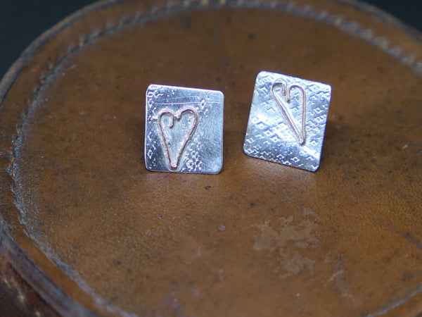 Imperfect Heart Stud Earrings