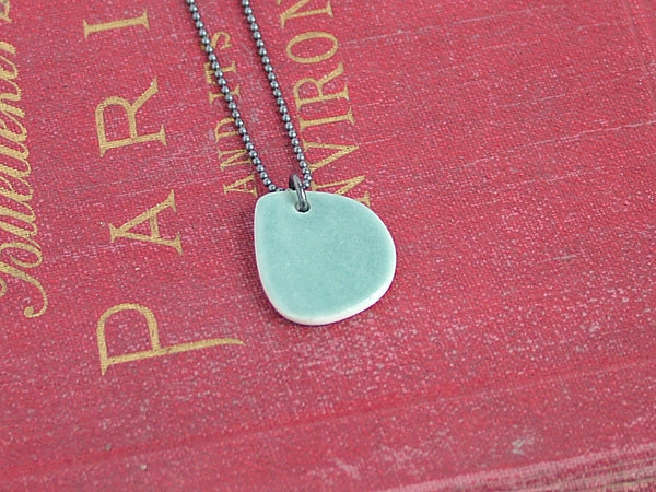 Seafoam Porcelain Necklace