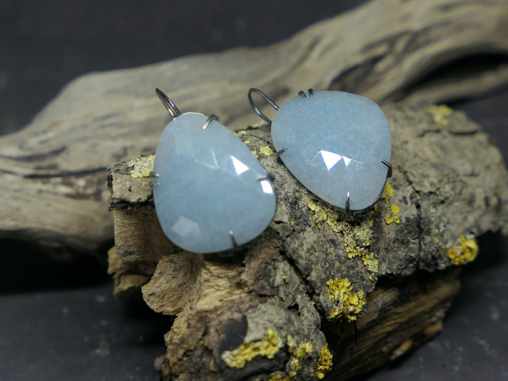 Large Aquamarine Drop Earrings