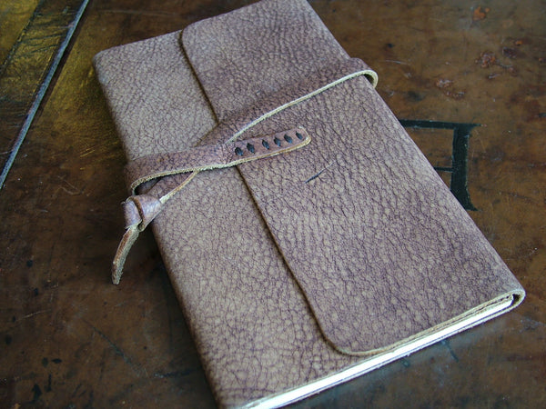 Medium Wraparound Leather Bound Notebook