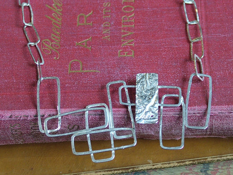 Mini Monlith Chain with Panel of Hand Formed Rectangles