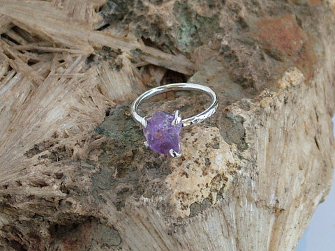 Amethyst Rock Ring