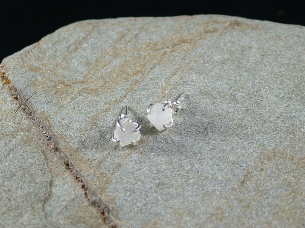 Raw Moonstone Earrings