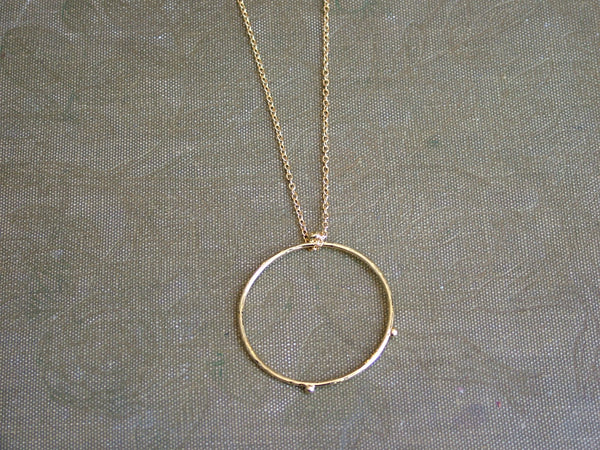Large Dot Hoop Pendant