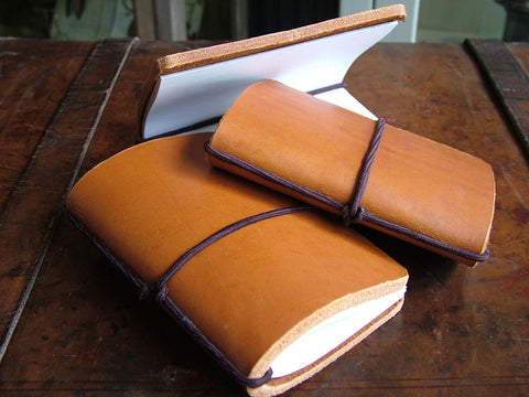 Brown Leather Refillable Notebook