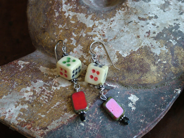 Vintage and Preloved Lucky Dice Earrings