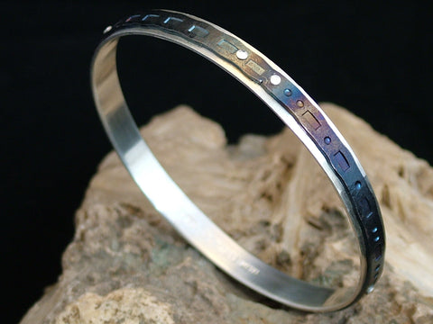 Silver and Steel Bangle