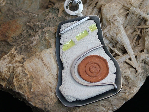 Ceramic and Silver Pendant