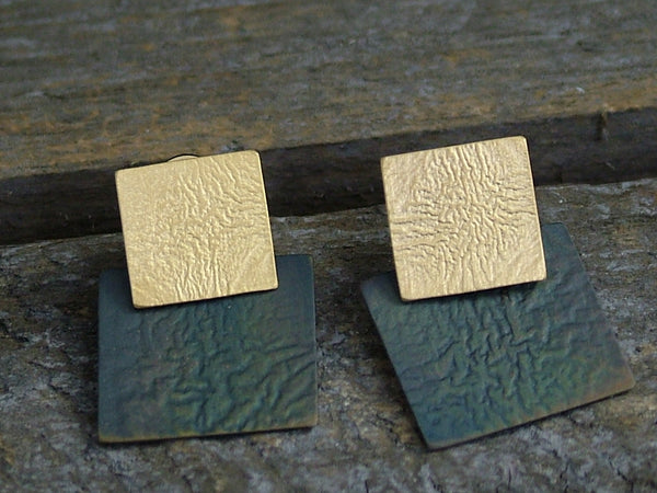 Two Piece Square Studs